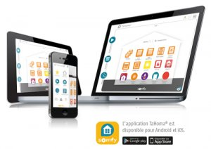 Box TaHoma Somfy : application iPhone