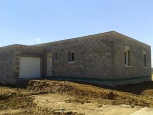 Maison toit plat hors d'air