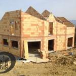 maison individuelle - élévation des murs