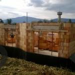Construction maison - élévation murs rez-de-chaussée