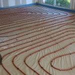 Maison individuelle avec plancher chauffant