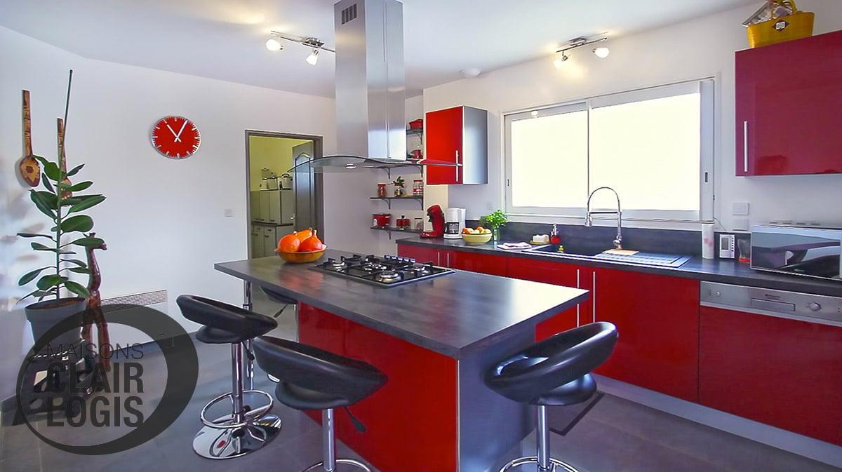 Nos maisons neuves maisons clair logis for Cuisine ultra moderne