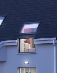 Maison avec combles aménagés - fenêtre de toit