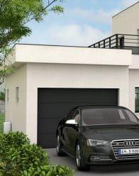 maison contemporaine avec garage à toit plat