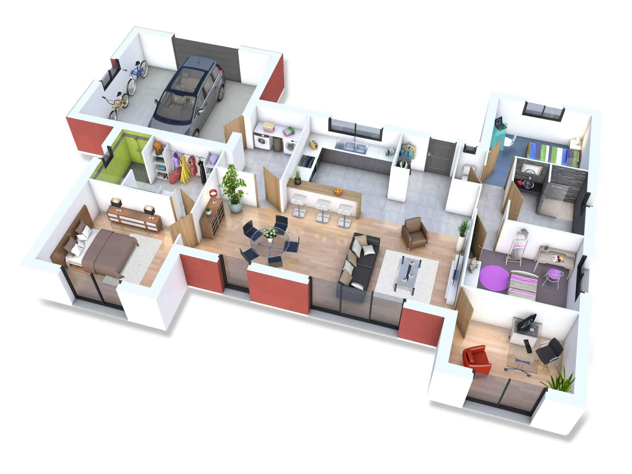 plan de maison clair logis