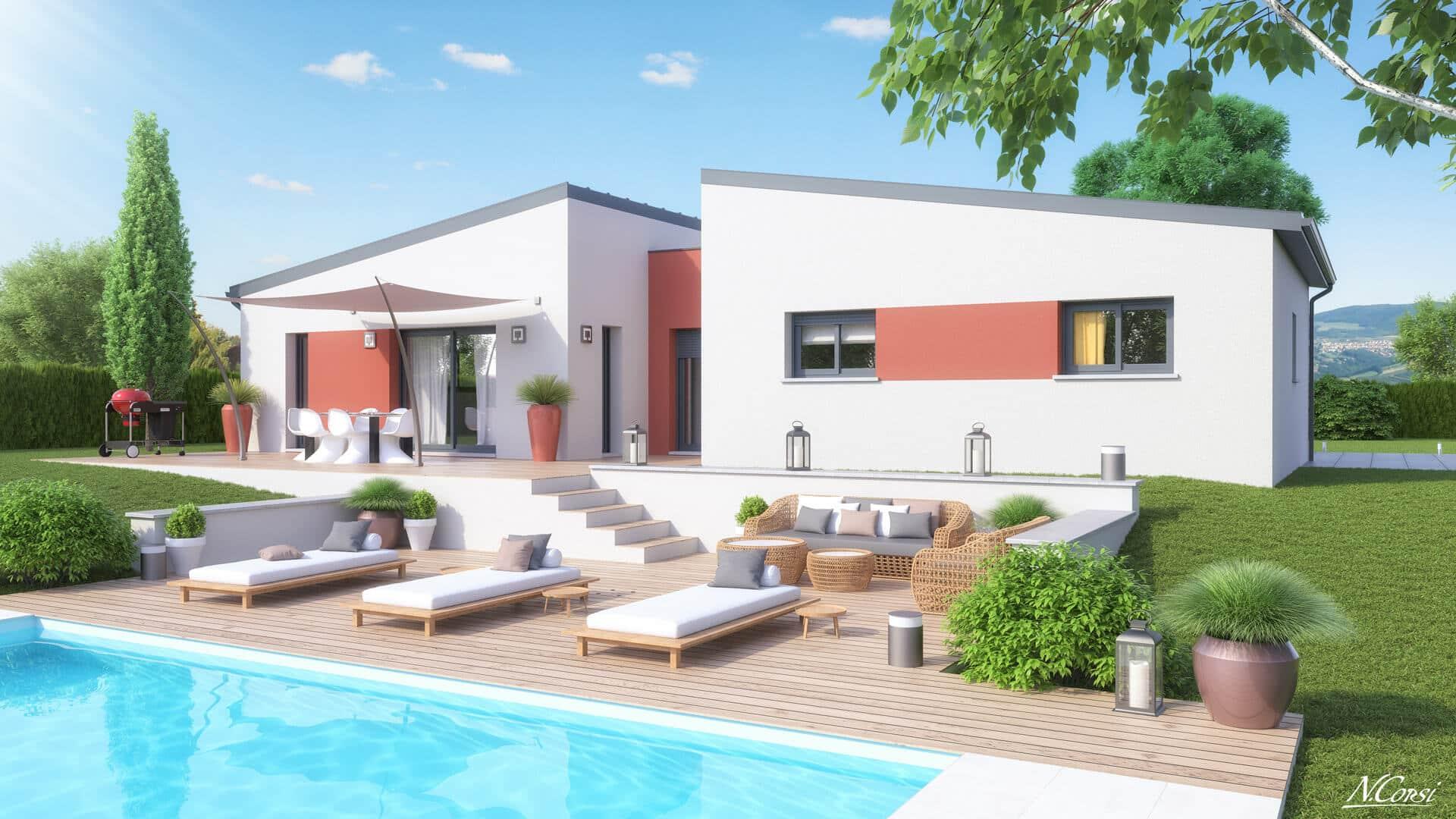 Maison Contemporaine Plan Maison Contemporaine Gratuit Plan 3d