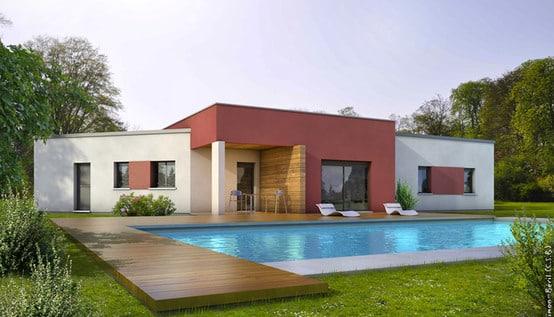 Plan de maison contemporaine alexandrite plan maison gratuit for Plan facade maison moderne