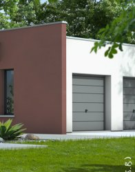maison contemporaine - garage double
