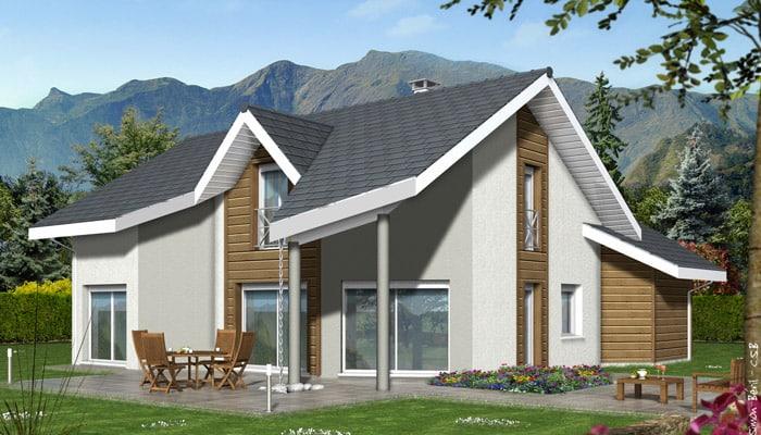 Plan de maison contemporaine arcalod maisons clair logis - Prix maison clair logis ...
