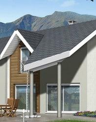 Plan de maison contemporaine arcalod maisons clair logis for Toiture moderne