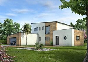couleur facade maison contemporaine. Black Bedroom Furniture Sets. Home Design Ideas