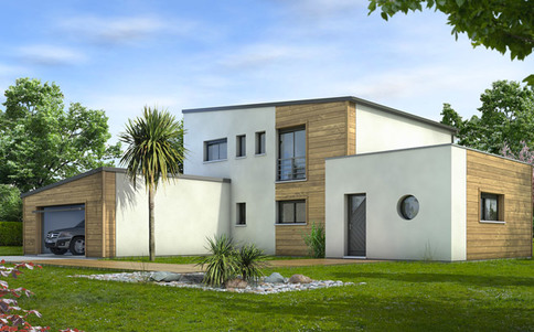 Plan maison contemporaine Cornaline