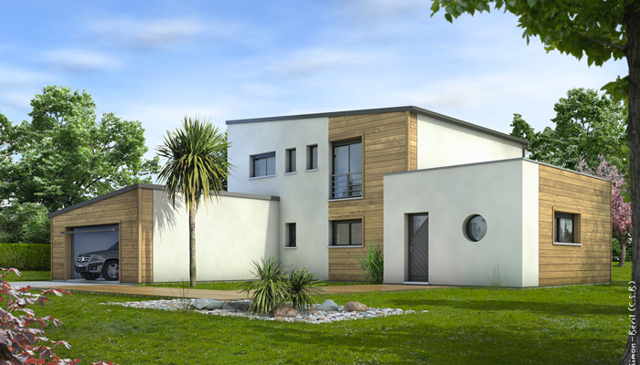Maison contemporaine cornaline plan maison for Plans maisons contemporaines