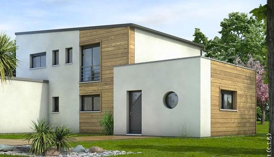 Maison contemporaine cornaline plan maison for Plan interieur maison contemporaine