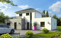 Plan maison contemporaine olivine maison plain pied for Maison clair logis grenoble