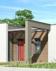 maison toit plat noyer plan maison gratuit. Black Bedroom Furniture Sets. Home Design Ideas