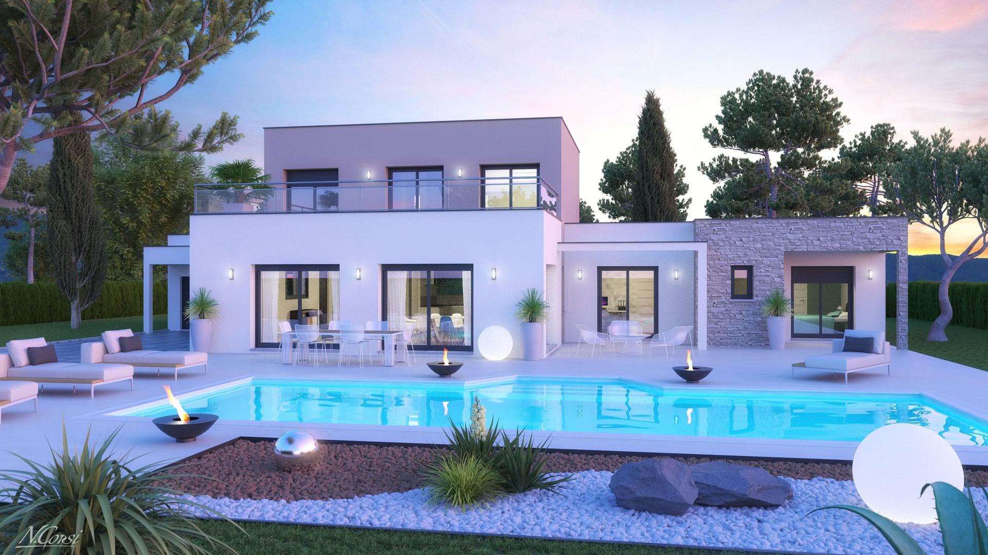 Surréaliste Plan maison gratuit DX-08