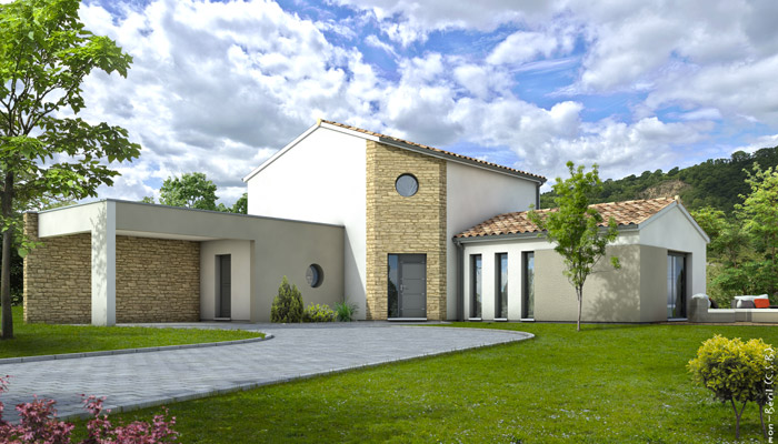 Plan Maison R 1 Gratuit. Plan Spanish Style Home With A Living Sf Of ...