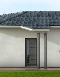Maison contemporaine tanzanite maisons clair logis for Avancee terrasse couverte