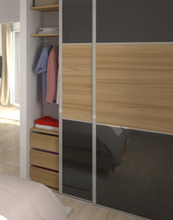 Maison contemporaine tanzanite maisons clair logis - Placard integre chambre ...