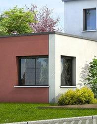 Maison contemporaine Tourmaline - enduit biton