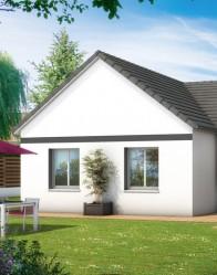 Maison en L de plain-pied - constructeur maison