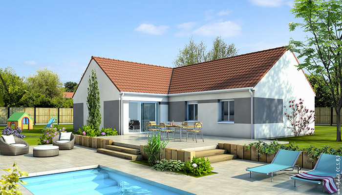 Plan maison en l cl matite maison plain pied maisons clair logis for Photos de maison