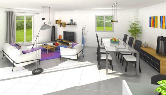 vue 3D - maison individuelle Lauzière