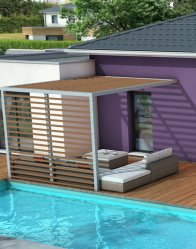 Maison moderne Mahé - espace détente