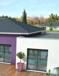 Maison toit plat Mahé - plan maison moderne