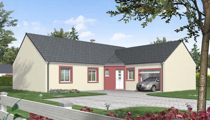 plan maison en l topaze maison plain pied. Black Bedroom Furniture Sets. Home Design Ideas