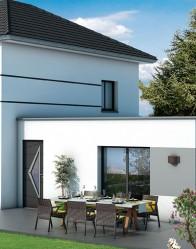 Maison toit plat Velin - plan maison 3D