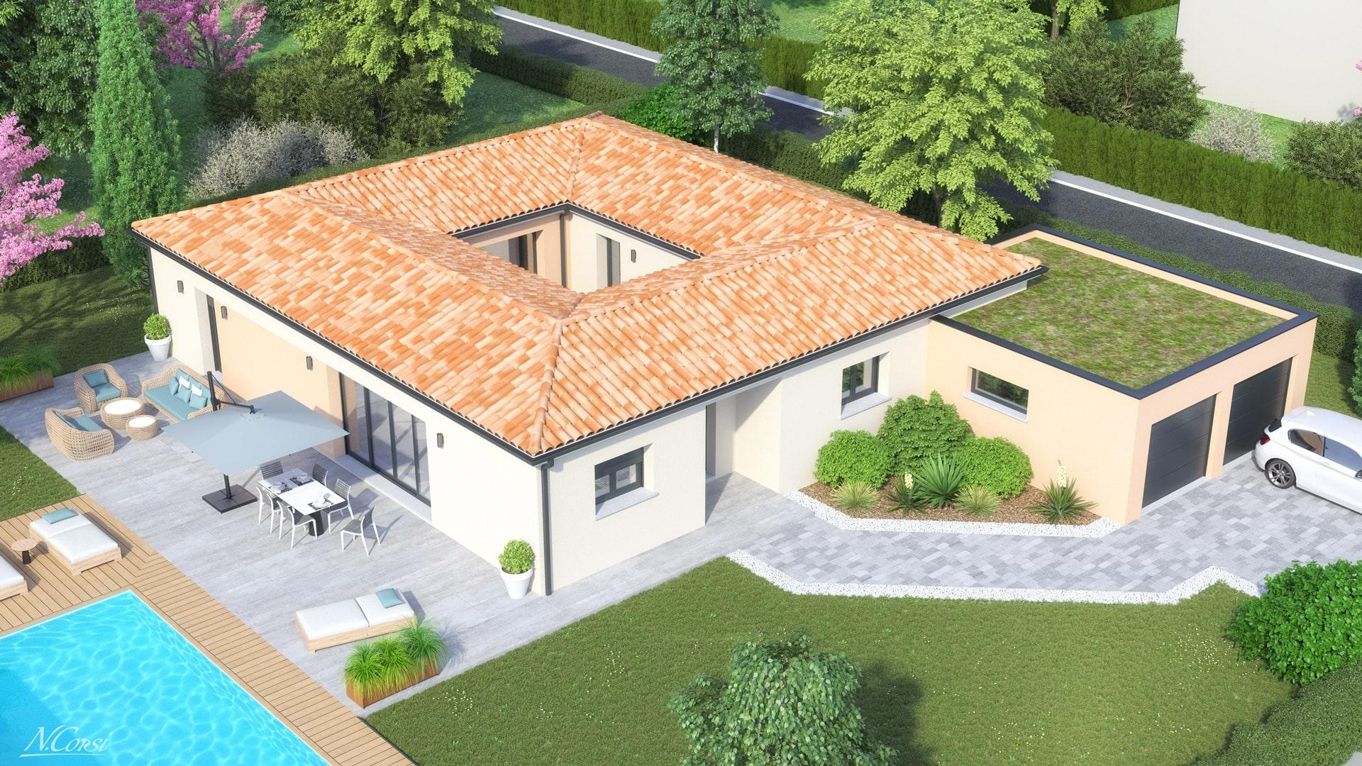 Plan Maison 3 Chambres Avec Patio Plan Maison