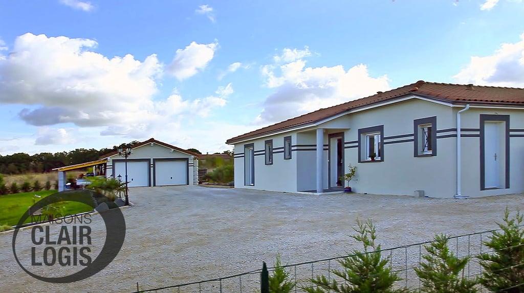 Maison de plain-pied avec garage double indépendant