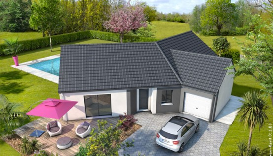 Plan maison moderne bleuet maison familiale maisons for Plan maison en y