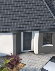Plan maison moderne bleuet maison familiale maisons for Porche maison moderne