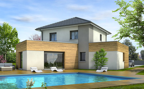 Plan maison moderne Cévennes