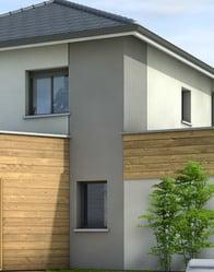 Plan maison moderne c vennes plan maison 3d - Bardage moderne ...
