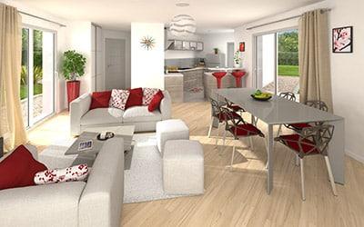 Plan maison une maison moderne en u for Modele maison en u ouvert