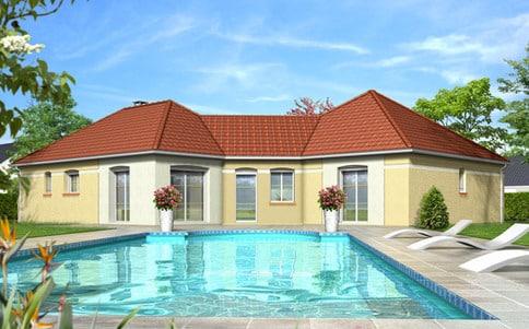 Plan de maison moderne Lavande
