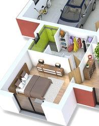 Plan maison 3D - maison moderne