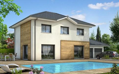 Constructeur maison individuelle isere 38 grenoble 38000 for Maison contemporaine 110m2