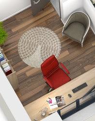 Plan maison 3D - vue bureau