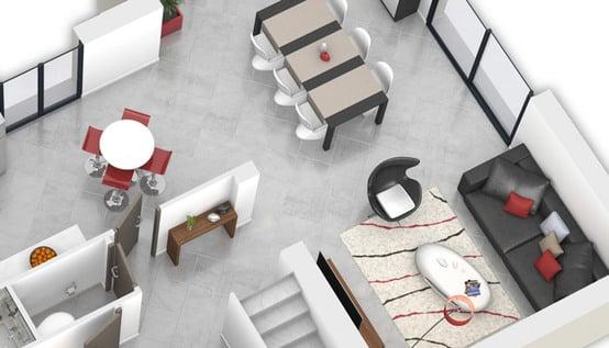 plan maison 3D - plan maison gratuit Mont Blanc