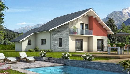 Plan de maison moderne mont revard plan maison gratuit for Maison moderne etage