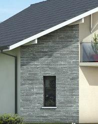 Plan de maison moderne mont revard plan maison gratuit for Facade maison moderne pierre