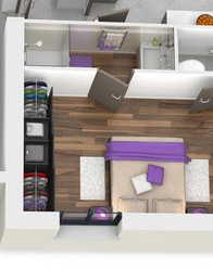 plan maison 3D - Semnoz - suite parentale