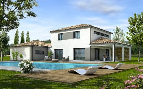 Plan maison gratuit for Plan villa style americain gratuit