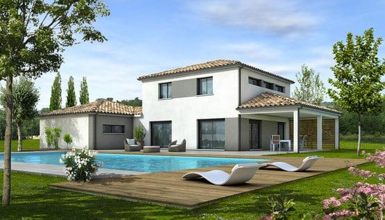Plan maison moderne tahiti maisons clair logis - Belle maison contemporaine design ...