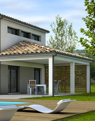 Maison moderne avec terrasse couverte